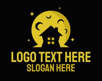 Moonlit - Moon Light House logo design