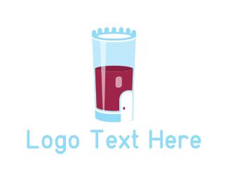Pub - Castle Glass logo design