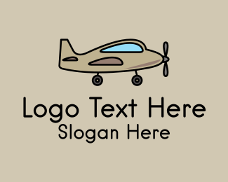 Childcare - Toy Military Airplane logo design