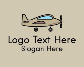 Military - Toy Military Airplane logo design