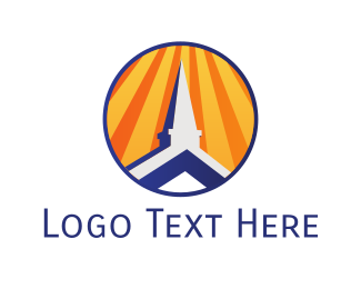 Temple - Church Roof logo design