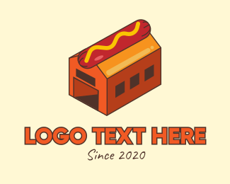 Breakfast Restaurant - Hot Dog Sausage Factory logo design