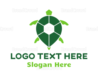 Reptile - Turtle Green Spot logo design
