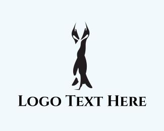 Couple - Penguin Couple logo design