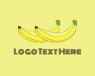 Banana - Two Bananas logo design