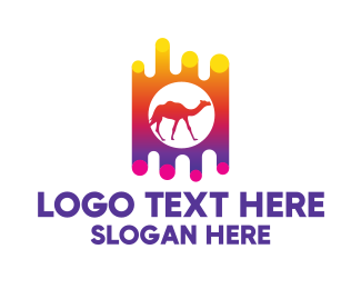 Burning Man - Desert Camel Ride logo design