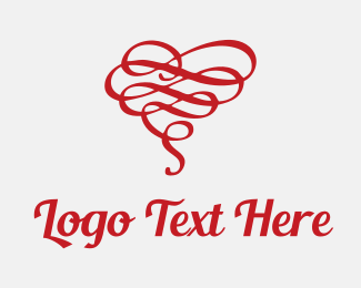 Tangled Heart Ribbon Logo