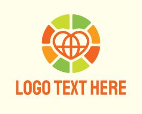 Together - Community Global Heart logo design