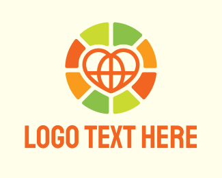 Together - Community Global Heart logo design