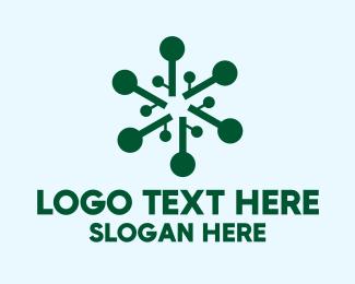 Genetic - Abstract Genetic Shape logo design