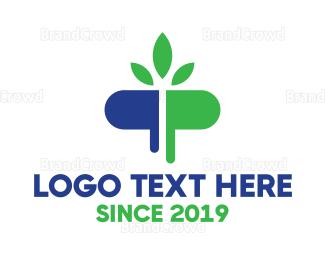 Herbal - Herbal Pill logo design