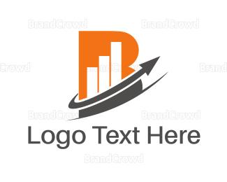 Letter B - Chart Letter B logo design