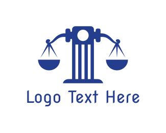 Lawfirm - Blue Tower Scale logo design