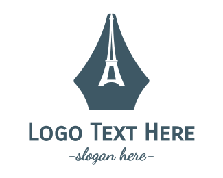 French - French Writer logo design