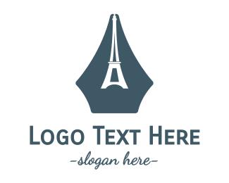 French - French Writer logo design