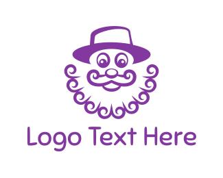Gnome - Purple Clown logo design
