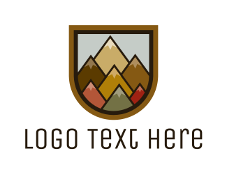 Geometric - Colorful Geometric Mountain logo design