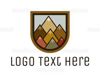 Mountain - Colorful Geometric Mountain logo design