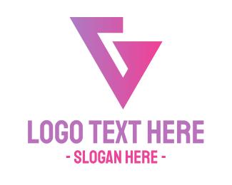 Angle - Pink Geometric G  logo design