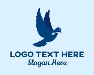Olive - Blue Dove Olive Branch  logo design
