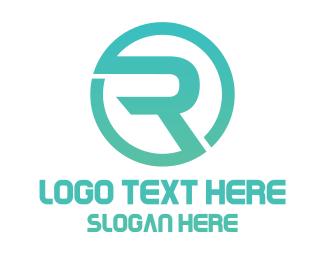Letter R - Modern Letter R Circle logo design