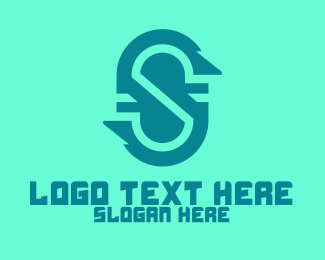 Telco - Jagged Letter S logo design