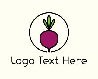 Vegan - Fresh Beet logo design