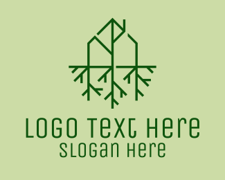 Roots - Sustainable Eco House  logo design