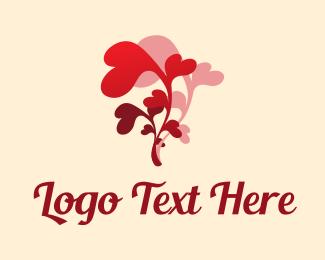 Girlfriend - Heart Flower Florist  logo design