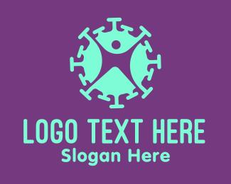 Immune System - Virus Infected Person  logo design