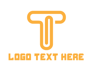 Virtual Assistant - Orange T Clip logo design