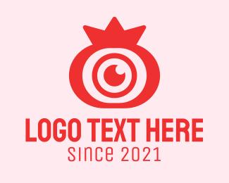 Video Coverage - Pomegranate Fruit Lens logo design