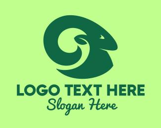 Forest Animal - Green Mountain Goat logo design