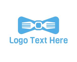 Waiter - Fork Tie logo design