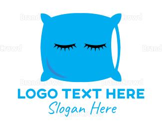 Bed - Sleeping Pillow logo design