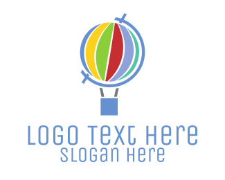 Air Balloon - Global Hot Air Balloon logo design