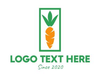 All Natural - Organic Carrot logo design