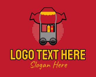 Street Food - Retro Hot Dog Stall logo design