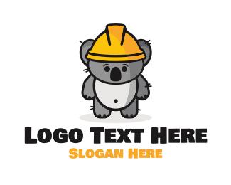 Worker - Koala Hard Hat Maintenance  logo design