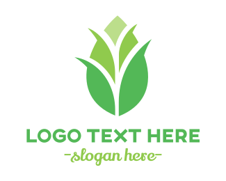 Corn - Green Corn Stalk logo design