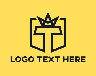 Black - Black T Crown logo design
