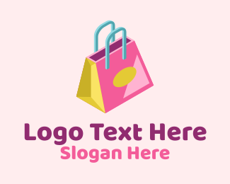 Luxury Bag - Isometric Shopping Bag logo design