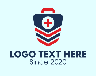 Shield - Medical Emergency Kit Badge  logo design