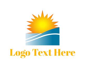 Puerto Rico - Sunny Beach logo design