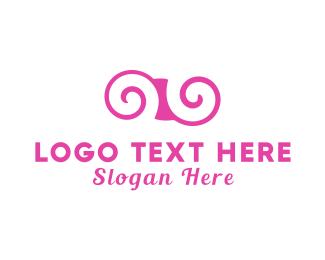 White And Pink - Pink Swirl logo design