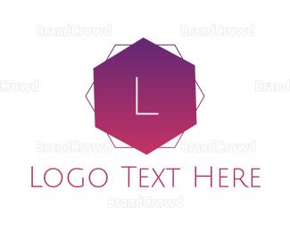 Text - Hexagonal Gradient Text logo design