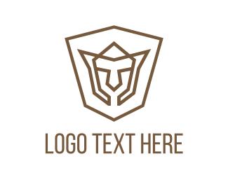 Youtube - Shield Face logo design