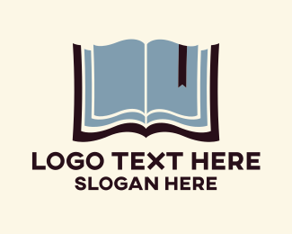 Bible - Open Book logo design