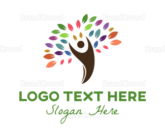 Human Tree - Colorful Arborist logo design