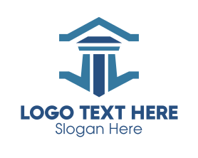 Professional Legal Courthouse Pillar Logo